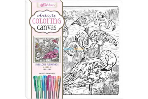 Art Maker Artists Coloring Canvas Fabulous Flamingos 9781488976193 cover page