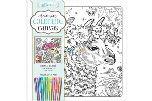Art Maker Artists Coloring Canvas Lovely Llama 9781488976209 cover page