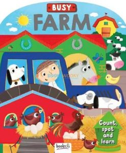 Busy Farms (Shape Book-count, spot and learn 9781787720985 cover page