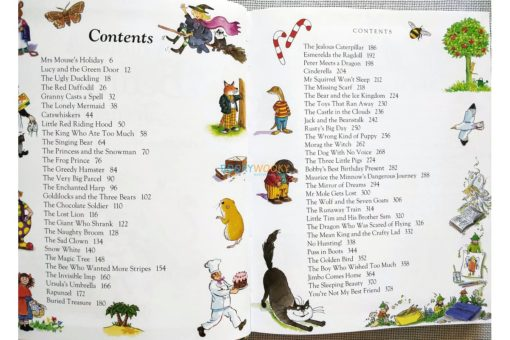 Children's Bedtime Treasury (2.) index page contents list of stories