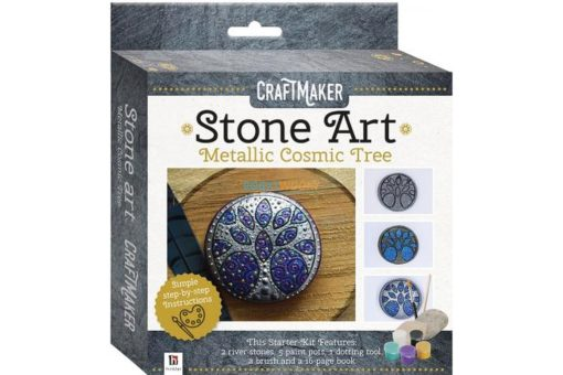 Craftmaker Stone Art Metallic Cosmic Tree Pack 9781488915376 cover page