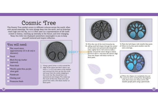 Craftmaker Stone Art Metallic Cosmic Tree Pack1
