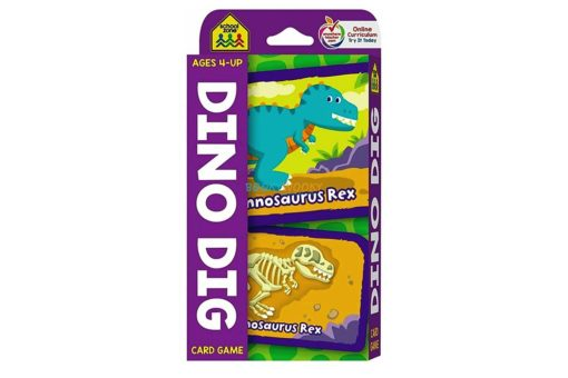 Dino Dig Card Game School Zone Flash Cards 9781488940477 cover page
