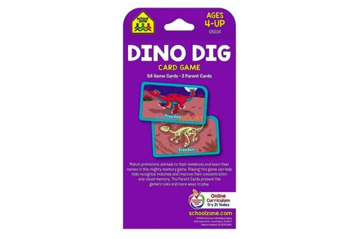 Dino Dig Card Game back cover