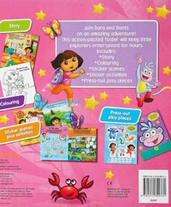 Dora the Explorer Friendship Activity Folder back page
