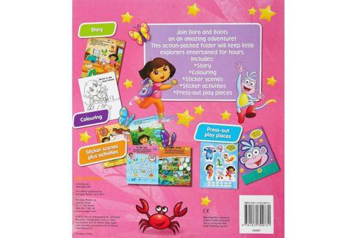 Dora the Explorer Friendship Activity Folder back page