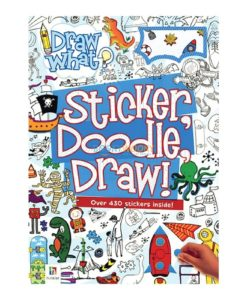Draw What Sticker Doodle Draw (Blue) 9781488928123 cover page