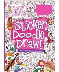 Draw What Sticker Doodle Draw (Pink) 9781488928062 cover page