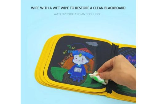 Eraseable Chalkboard book (4 designs available) (6)