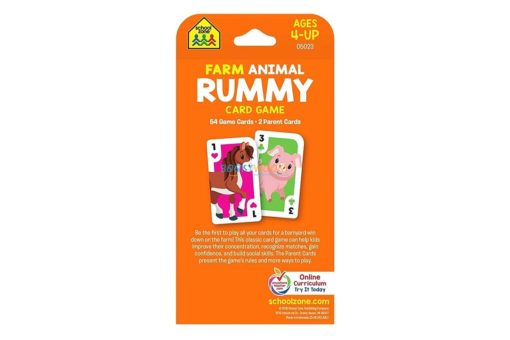 Farm Animal Rummy Card Game back cover