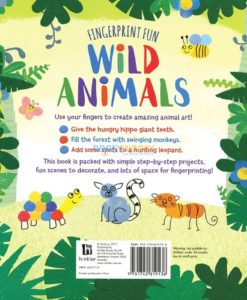 Fingerprint Fun Wild Animals back page