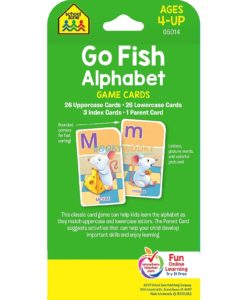 Go Fish Alphabet Game Cards back page