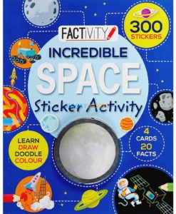 Incredible Space Sticker Activity 9781474802437 cover page