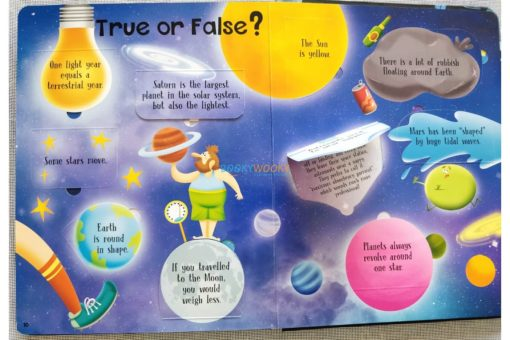 Lift A Flap Book Amazing & Curious Facts about Space (4)