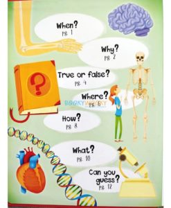Lift A Flap Book Amazing & Curious Facts about the Human Body (1)
