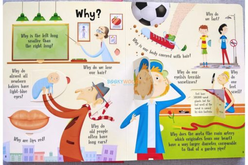 Lift A Flap Book Amazing & Curious Facts about the Human Body (2)