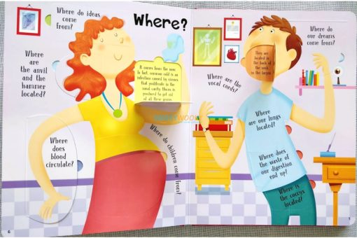 Lift A Flap Book Amazing & Curious Facts about the Human Body (3)