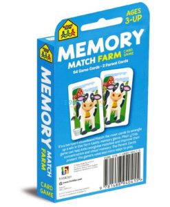 Memory Match Farm Card Game back cover