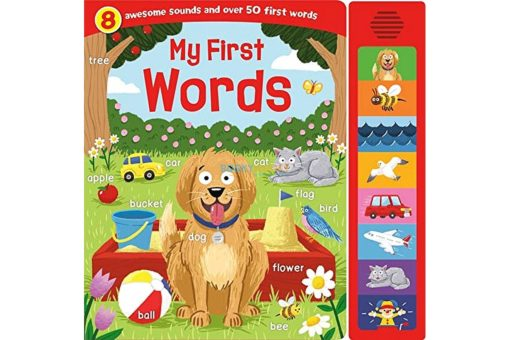 My First Words 8 Sounds Boardbook 9781789051612 cover page