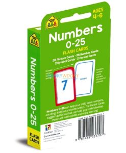 Numbers 0-25 Flash Cards back cover