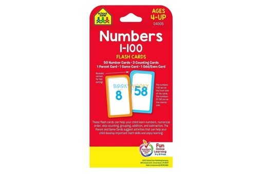 Numbers 1-100 Flash Cards back cover