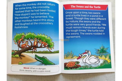 Panchatantra Monkey Crocodile Swans Turtle 2in1 (2)