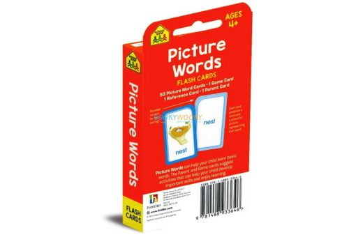 Picture Words Flash Cards back cover