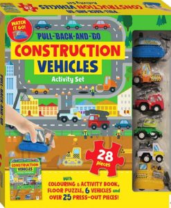Pull Back and Go Construction Vehicles Activity Set 9781488934902 cover page