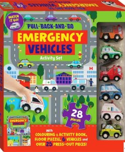 Pull Back and Go Emergency Vehicles Activity Set 9781488934940 cover page