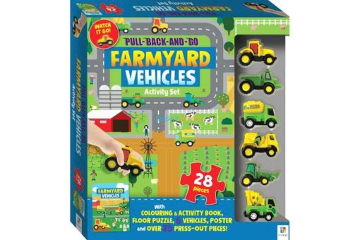Pull Back and Go Farmyard Vehicles Activity Set 9781488914799 cover page