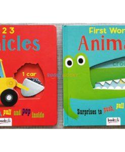 Push Pull and Pop Boardbooks (2 titles) - 1 2 3 Vehicles (2)