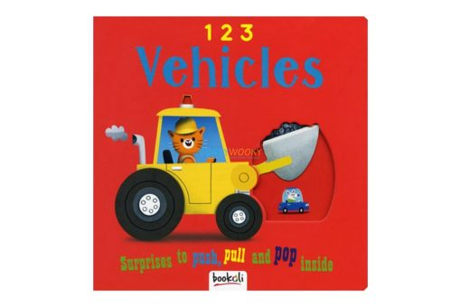 Push Pull and Pop Boardbooks (2 titles) - 1 2 3 Vehicles 9781787721098 cover page