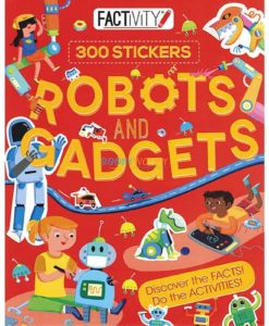 Robots and Gadgets (300 Stickers) factivity 9781474845250 cover page(1)