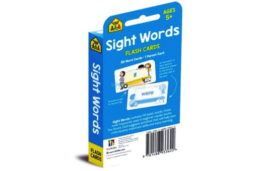 Sight Words Flash Cards back cover