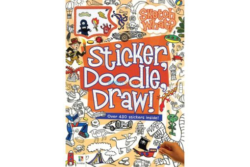 Sketch What Sticker Doodle Draw (Orange) 9781488903625 cover page