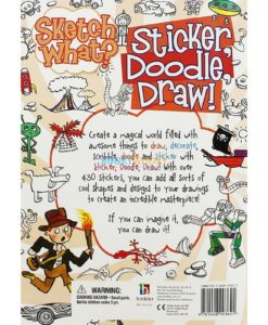 Sketch What Sticker Doodle Draw (Orange) back page