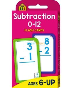 Subtraction 0-12 Flash Cards 9781488933585 cover page