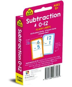 Subtraction 0-12 Flash Cards back cover