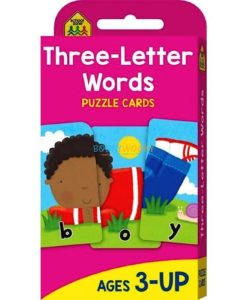 Three Letter Words Flash Cards (School Zone flashcards) 9781488933561 cover page