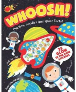 Whoosh! Puzzles Doodles and Space Facts 9781472348340 cover page