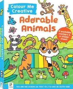 adorable animals colour me cover