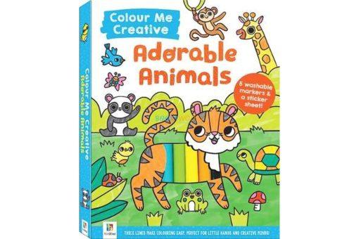 adorable animals colour me cover