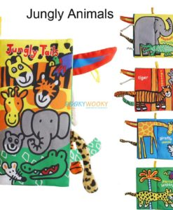 Animal Tails Cloth Book - Jungly Tails Cloth Book 2