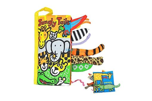 Animal Tails Cloth Book - Jungly Tails Cloth Book cover