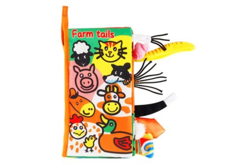 Farm Tails Cloth Book- Animal Tails Cloth Book cover