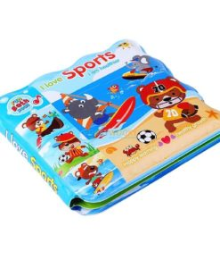 I love Sports Bath Book (wavy edges) (1)