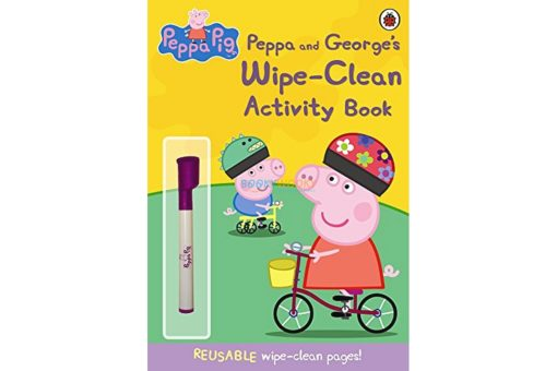 PEPPA PIG PEPPA AND GEORGES WIPE - CLEAN ACTIVITY BOOK 9781409308621 cover