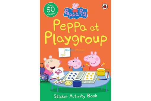 Peppa Pig Peppa at Playgroup Sticker Activity Book 9780241411940 cover