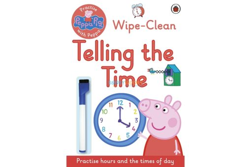 Peppa Pig Practise with Peppa Wipe-Clean Telling the Time 9780241254011 cover