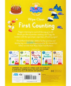Peppa Pig Wipe-Clean Counting back